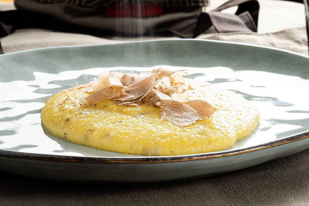 Pietro&Pietro recipes - Polenta with white truffles
